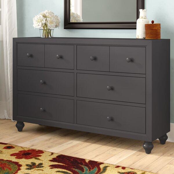 Kennell 6 Drawer Standard Dresser by Three Posts