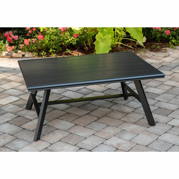 Beatty All-Weather Commercial-Grade Aluminum Slat-Top Coffee Table by Charlton Home