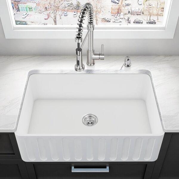 33 L x 18 W Farmhouse Kitchen Sink by VIGO