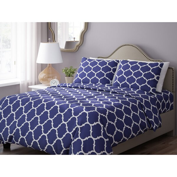 Wayfair Basics 3 Piece Geometric Down Alternative Duvet Cover Set by Wayfair Basics™