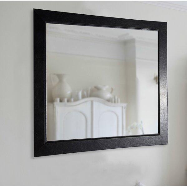 Executive Black Wall Mirror by Brayden Studio