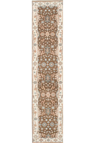 One-of-a-Kind Doggett Hand-Knotted Blue/Brown Area Rug by Isabelline