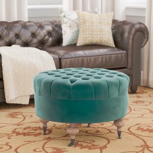 Affordable Price August Cocktail Ottoman By Charlton Home