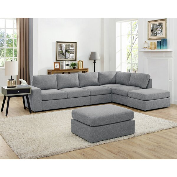 Gosnell Modular Sectional with Ottoman by Greyleigh
