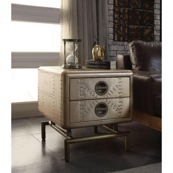 Vancleave End Table with Storage by Williston Forge