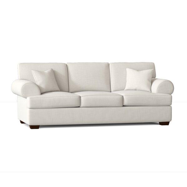 Simmons Flannel Charcoal Sofa Wayfair