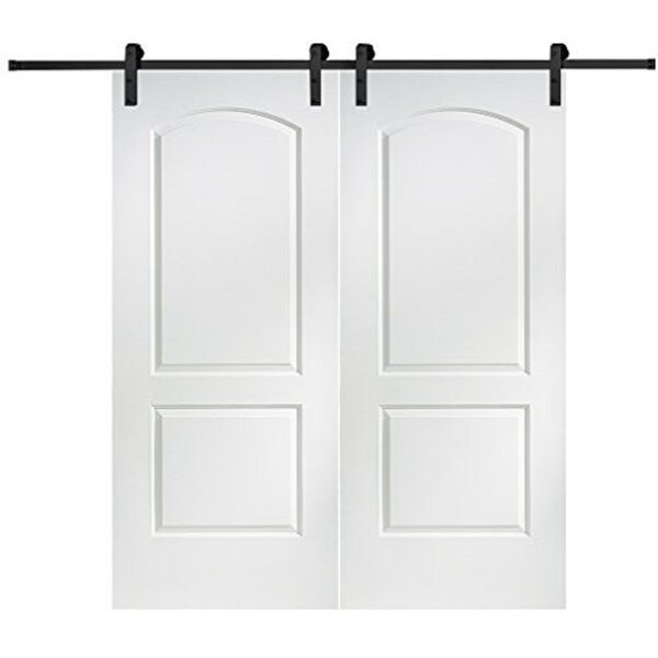 Caiman Solid MDF Panelled Slab Interior Barn Door by Verona Home Design