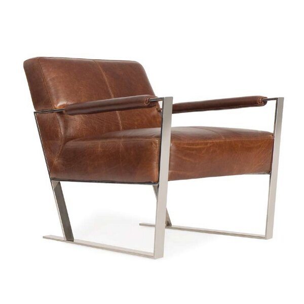 Irvin Top Grain Contemporary Armchair by Orren Ellis