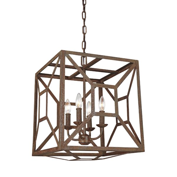 Jayanth 4-Light Square/Rectangle Chandelier by Gracie Oaks