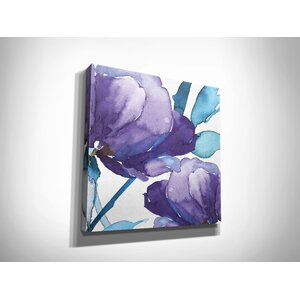 'Royal Blooms I' by Harrison Ripley Framed Painting Print on Wrapped Canvas by Wexford Home