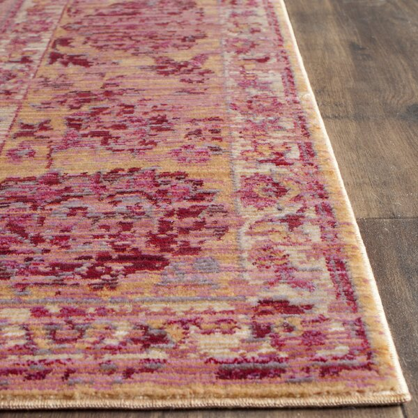 Valencia Pink Area Rug by Bungalow Rose