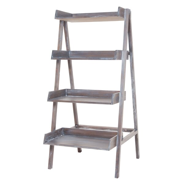 Gray Ladder Bookcase by One Allium Way