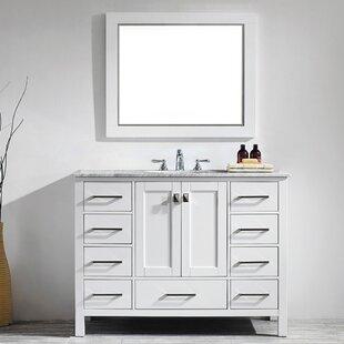 Newtown 48 Single Vanity Set with Mirror ByBeachcrest Home