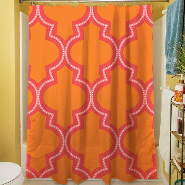 Ogee Dots Shower Curtain by Manual Woodworkers & Weavers