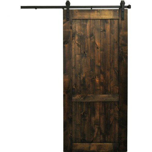 Rockmart Wood 1 Panel Interior Barn Door by August Grove