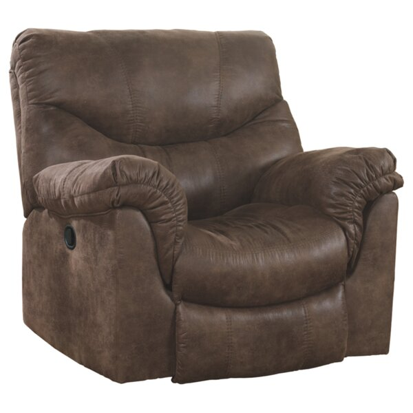 Weddington Faux Leather Manual Rocker Recliner W001517421