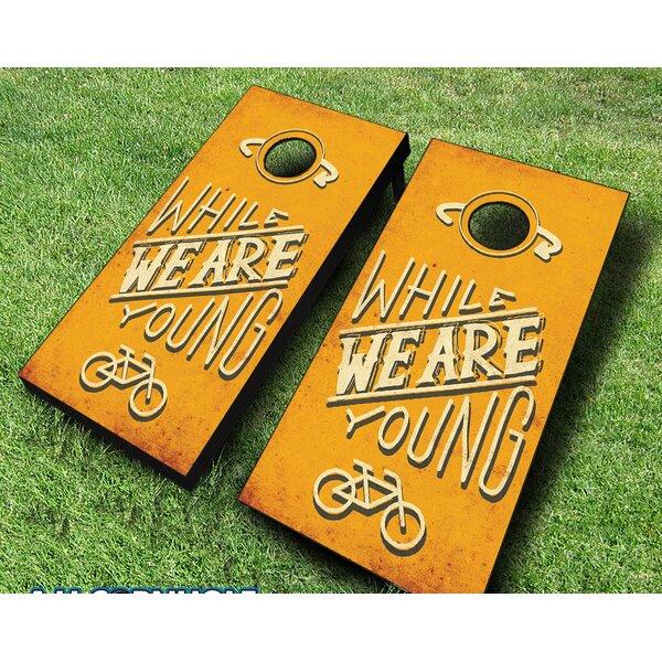 10 Piece While We Are Young Cornhole by AJJ Cornhole