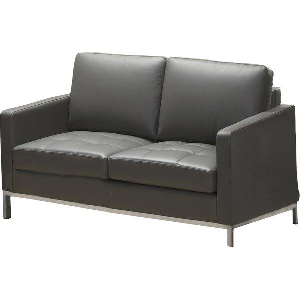 244 Series Regency Leather Loveseat by Lind Furniture