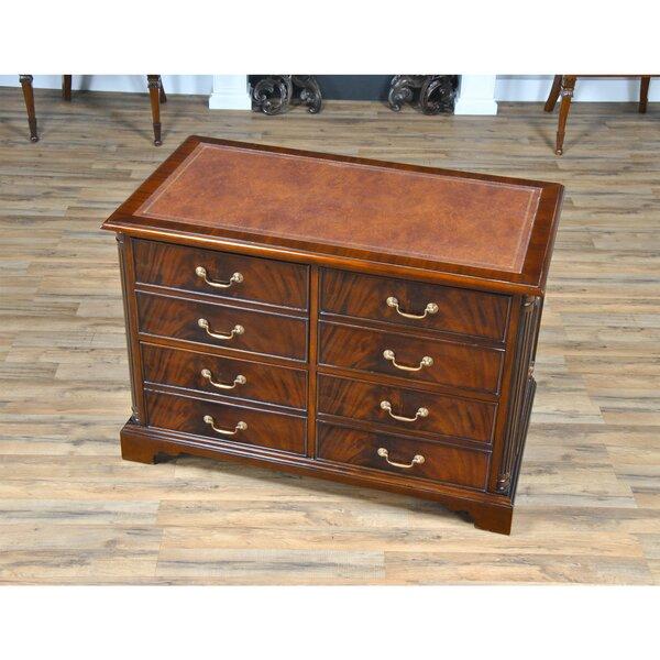 Koeller Mahogany 8-Drawer Lateral Filing Cabinet