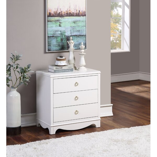 Reichert 3 Drawer Nightstand by Everly Quinn