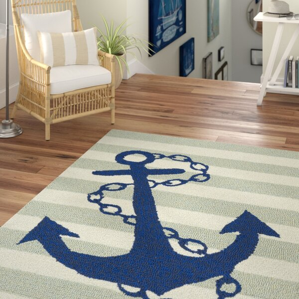Sereno Traditional Handmade Indoor / Outdoor Area Rug by Beachcrest Home