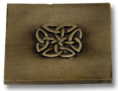 Celtic 4 x 4 Pewter Hand-Painted Tile Antique Brass by Premier Hardware Designs