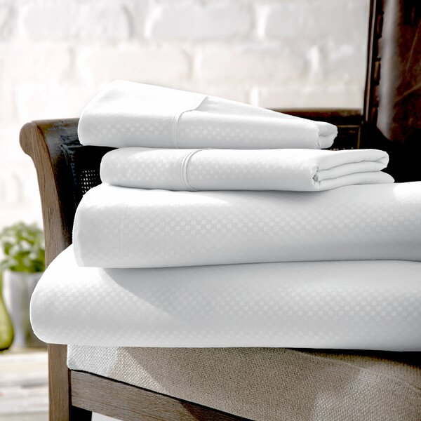 Crystal Double-Brushed Checkered Sheet Set by Wade Logan