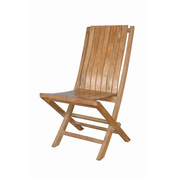 Andrew Folding Patio Dining Chair with Cushion (Set of 2) by Anderson Teak
