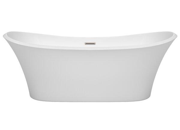 Bolera 71 x 31.5 Freestanding Soaking Bathtub by Wyndham Collection