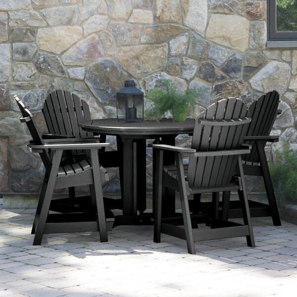 Deerpark 5 Piece Bar Height Dining Set by Longshore Tides