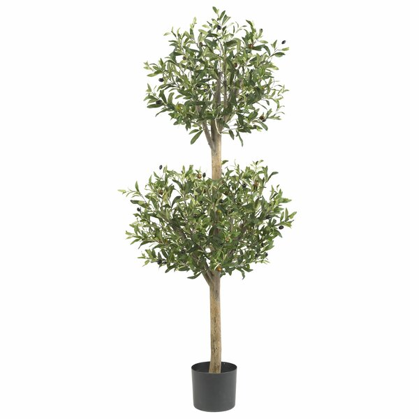 Olive Tree Topiary in Pot by Nearly Natural