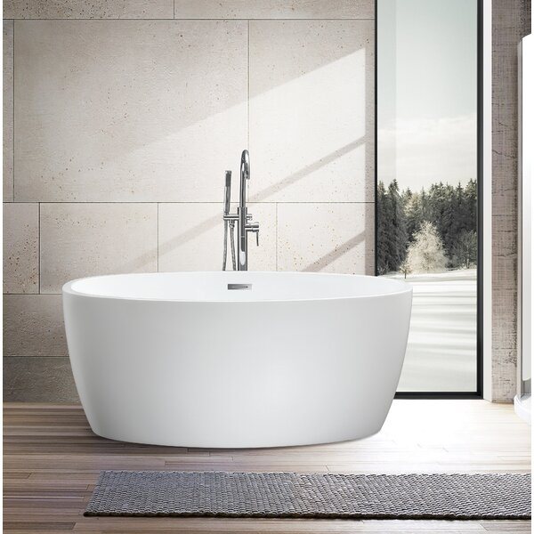 55 x 32 Freestanding Soaking Bathtub by Vanity Art