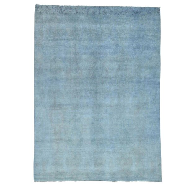 One-of-a-Kind Castilleja Hand-Knotted Silver Blue Area Rug by Longshore Tides
