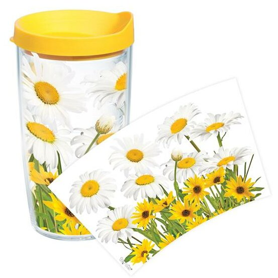 Garden Party White Daisies Plastic Travel Tumbler by Tervis Tumbler