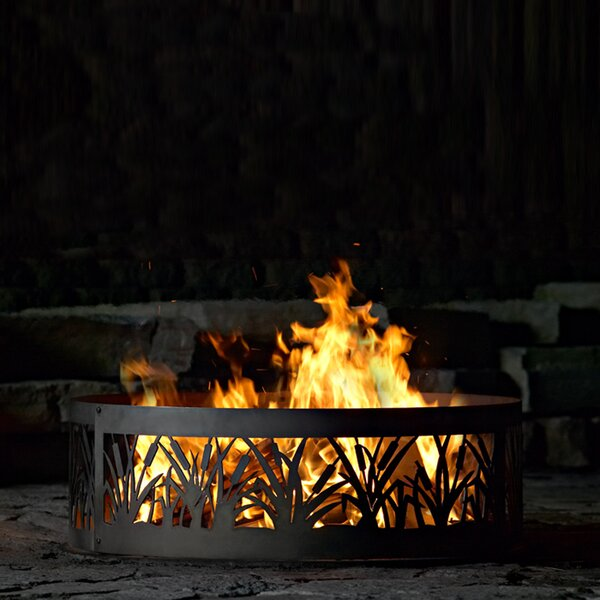 Cattail Steel Wood Burning Fire ring by P & D Metal Works
