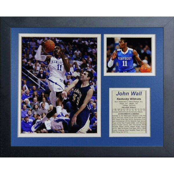 John Wall - Kentucky Wildcats Framed Photographic Print by Legends Never Die