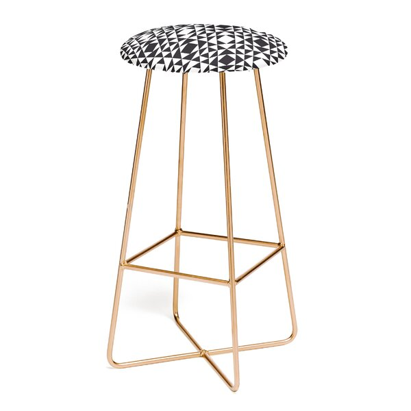 Heather Dutton Rhythm Black 30 Bar Stool by East Urban Home