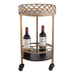 Rivero Quatrefoil Bar Cart by Willa Arlo Interiors