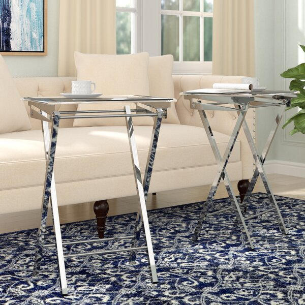 Alvar Folding Tray Table (Set of 2) by Willa Arlo Interiors
