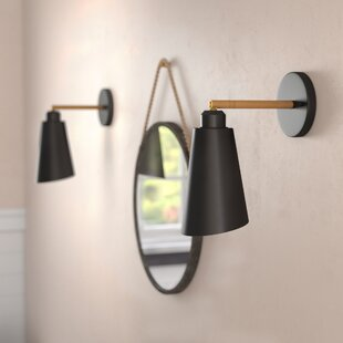 Matte black wall sconce wayfair valmonte 1 light wall sconce aloadofball Images