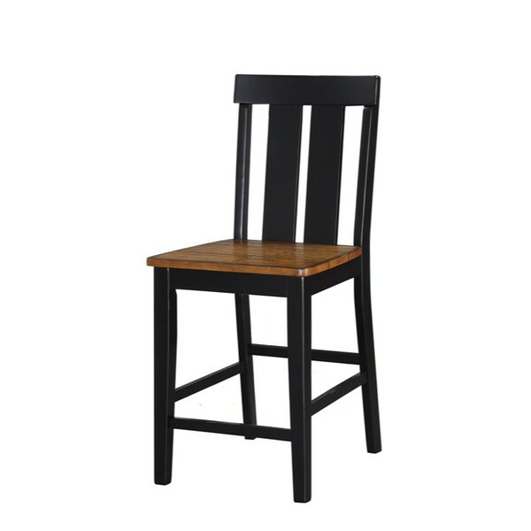 Gilkes Rubber Wood 24 Bar Stool (Set of 2) by August Grove