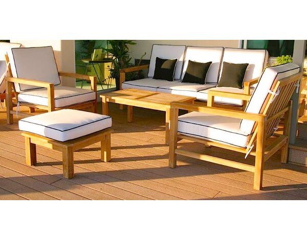 Grenier 5 Piece Sunbrella Sofa Set with Cushions by Bungalow Rose