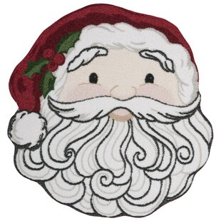 Shop For Christmas Santa Face Red/White Area Rug By Kathy Ireland Home