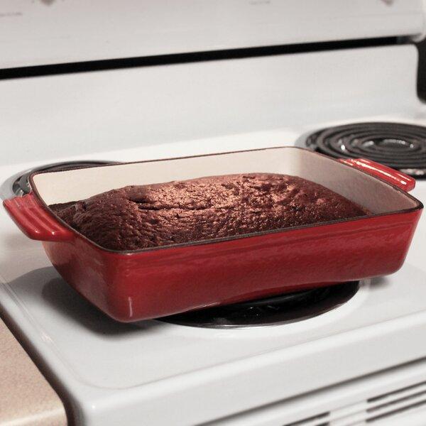 Mary Rectangular Enameled Cast Iron Deep Baking / Roasting Dish by Alcott Hill