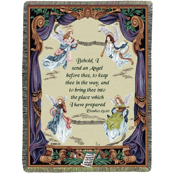 Angel Symphony Tapestry Cotton Throw by Manual Woodworkers & Weavers