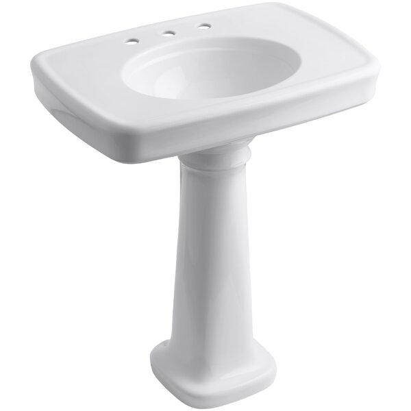 Bancroft® Ceramic 31 Pedestal Bathroom Sink with Overflow by Kohler