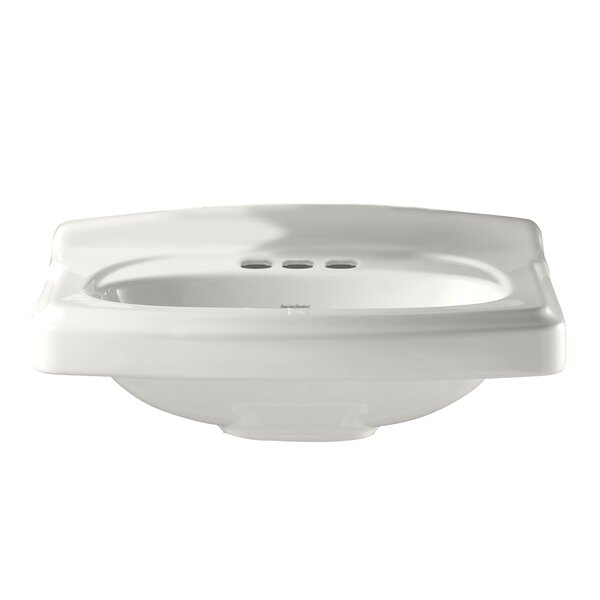 Portsmouth Townsend Ceramic 25 Pedestal Bathroom Sink with Overflow by American Standard