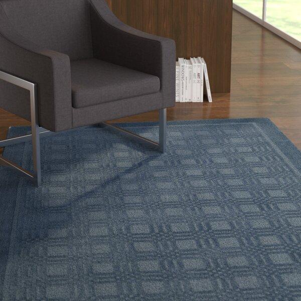 Aspasia Blue Area Rug by Ebern Designs