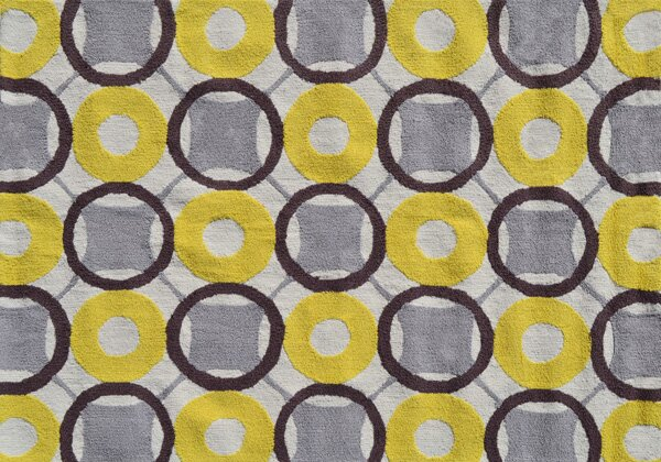 Simone Hand-Hooked Yellow Area Rug by Threadbind