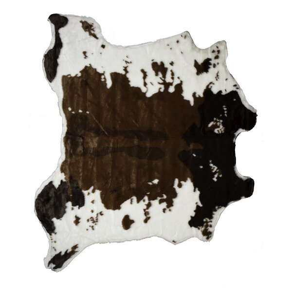 Chocolate/White Area Rug by Luxe
